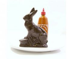 Sriracha infused dark chocolate bunny!!