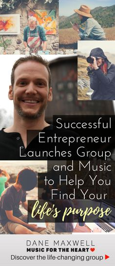 Successful entrepreneur launches group and music to help you find your life's purpose. Learn more about Dane here: https://danemaxwell.leadpages.co/join-the-vow-successful-entrepreneur/?utm_source=pinterest.com&utm_campaign=SuccessfulEntrepreneur&utm_medium=social&utm_content=SuccessfulEntLaunchArt