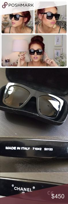 Jaclyn Hill Chanel Sunglasses These are gently used Chanel Sunglasses! They come with a case and microfiber cloth! These are  discontinued and very very hard to find! The style number on the side is 71042 S0133 as Jaclyn Mentions in her What's In My Bag Video that she posted on October 8, 2014! They have no scratches and are always kept in the case. They are authentic and absolutely adorable! If you're a true Hillster, these are for you!! Sadly I'm choosing to sell due to financial…