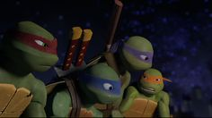 Mikey: And here's my plan. We bust in there, steal the balloons and pizzas and then catch the next plane to San Francisco. Piece of cake.  Donnie: Mikey. Do you even know why we're here?  Mikey: No, I only made up the plan so it would sound funny to our audience. *Mikey points at you*  Raph: Audience? Where? I don't see any...  Leo: Guys! Focus! We're on a mission here so keep quiet. That includes you too, Mikey!  Mikey: You're no fun, bro.