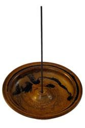 Shoyeido incense burner in Mocha. Such rich brown tones and dimension!