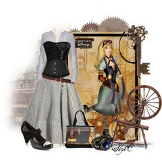 Outfit inspired by Briar Rose (Aurora) from Disney's Sleeping Beauty. Steampunk image by ~HelleeTitch on DeviantArt Steampunk Cosplay, Steampunk Clothing, Steampunk Fashion, Lady Like, Casual Cosplay, Cosplay Outfits, Steampunk Disney Princesses, Disney Inspired Fashion, Disney Fashion