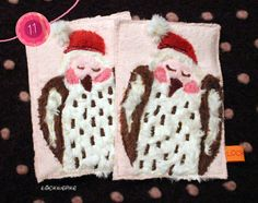 LOCKwerkE: STOFFKARTE Schneeeulenzwillinge