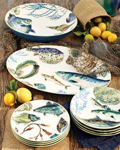 Poisson earthenware from Williams Sonoma