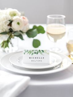 This printable wedding place card template is fully editable. You have the freedom to edit every detail in the template to make it perfect for your wedding! Once you have placed your order, you'll receive a link to edit your template directly in your browser, using the web application