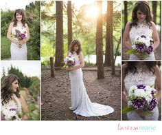 Purple and White Wedding Bouquet- Laressa Marie Photography - Find your wedding vendors on JELLIFI.com