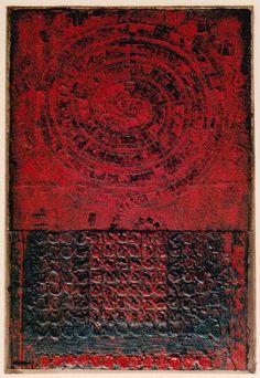 D-16.Oct.1996  Mixed media/paper making,painting, collage  44x30cm 林孝彦 HAYASHI Takahiko 1996