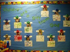 Christmas Bulletin board...would have to change the title to use at school