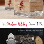 The Forever Home Project: A Rustic Holiday Mantle - like those vases