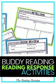 Is your Reading Buddies Program as effective as you'd like for it to be? These buddy reading bookmarks are guaranteed to lead to more student engagement. Elementary students can practice decoding unknown words, answering comprehension questions, making connections, and retelling stories with these bookmarks. Reading response sheets are also available for additional accountability. A must-have for your reading workshop! #thereadingroundup #daily5 #readingbuddies Summarizing Activities, Teaching Reading Strategies, Comprehension Strategies, Reading Resources, Teacher Resources, Partner Reading, Small Group Reading, Student Reading, Reading Response Journals