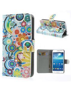 Δερμάτινη Θήκη Πορτοφόλι με Βάση Στήριξης για Samsung Galaxy Express 2 G3815 - Πολύχρωμα λουλούδια Galaxy Note, Galaxy J5, Samsung Galaxy, Galaxy Express, Samsung Cases, Hippy, Book, Design, Cases
