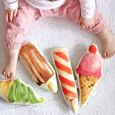 Ice Cream Baby Rattle by TheFoxintheAttic on Etsy