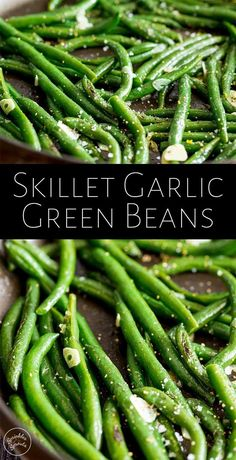 These Easy Skillet Garlic Green Beans are a fresh healthy side dish for so many family meals. They are so quick and simple to make and are vegan, paleo, keto and naturally gluten-free. Pretty much the perfect sautéed side dish. Thanksgiving Vegetable Sides, Thanksgiving Side Dishes, Thanksgiving Green Beans, Easter Side Dishes, Christmas Side Dishes, Vegetable Dishes For Christmas, Chinese Side Dishes, Paleo Thanksgiving, Healthy Side Dishes