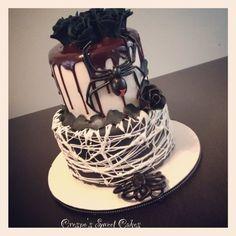 Halloween wedding  Cake by Jenifer Crespo-Martinez