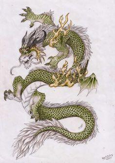 Asian Dragon by Zhamiska on DeviantArt Fantasy Dragon, Fantasy Art, Japanese Dragon Tattoos, Dragon Artwork, Art Japonais, Dragon Tattoo Designs, Dragon Pictures, Samurai Art, Dragons