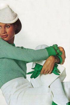 Beverly Johnson by Penn Vogue US 1973