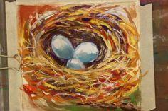 Bird's Nest Chalk Pastel #art tutorial www.hodgepodge.me