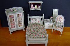Schattige slaapkamer met rozen/cute bedroom with roses made by Jolanda Knoop