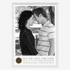 Simply Modern Save the Date Cards www.lovevsdesign.com