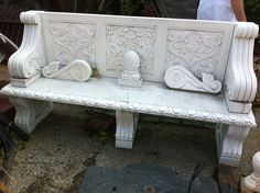 Marble + Bench. Found at Doc's Architectural Salvage in Indianapolis, IN.