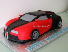 Bugatti Veyron - Cake by Violet - The Violet Cake Shop Car Cakes For Boys, Race Car Cakes, Cakes For Men, Bugatti Veyron, Bugatti Cars, Hot Wheels Cake, Violet Cakes, Race Car Party, Grilling Gifts