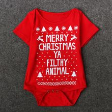 Christmas Clothes Baby Boy Girls Newborn Bodysuit Jumpsuit Playsuit Short Sleeve Outfits Letter Printed One Piece Costume 0-18M(China (Mainland))