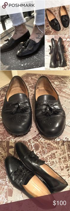 Salvatore Ferragamo Tassel loafer in soft, yet structured Italian leather with traditional brogue perforations from Salvatore Ferragamo. Used condition with signs of wear but still has tons of life left. Size 10 B. Model pic not the same as the one I'm selling (for styling purpose only) Salvatore Ferragamo Shoes Loafers & Slip-Ons