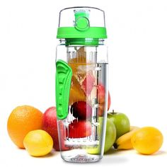 BPA Free Fruit Infuser Sport Water Bottle Flavor your day, your way! Simply add fruit, veggies, herbs or more to the infuser basket and let their flavors infuse your water all day! Fruit Infused Water, Fruit Water, Infused Water Bottle, Lemon Water, Fruit Juice, Water Bottle Flip, Bpa Free Water Bottles, Plastic Bottles, Fruit Infuser Bottle