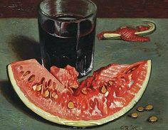 Gerard Victor Alphons Röling Still life with Watermelon 1945