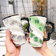 This beautiful Dinosaur Mug will be perfect to drink your coffee early in the morning, very easy to hold and use, it will be perfect for you and your family. #mug #colors #funny #diy #family #drink #ideas #perfect #rarely #beautiful Dinosaur Mug, Dinosaur Games, Mug Designs, Coin Purse, Smile, Drink, Wallet, Mugs, Coffee