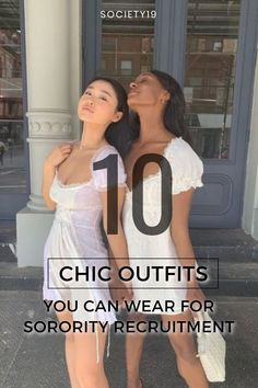 10 Chic Outfits You Can Wear For Sorority Recruitment Current Fashion Trends, Korean Fashion Trends, Spring Fashion Trends, Classic Outfits, Chic Outfits, Types Of Jeans, White Sundress, Skirt And Top Set, Sorority Recruitment