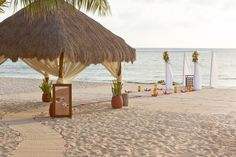 Ceremony setups on the beach can hold up to 300 guests if needed. #SunscapeSaborCozumel #Mexico #DestinationWedding