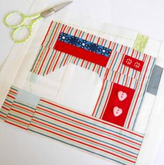 """Block 62 - Snapshots Mini Sewing Machine. This block is the second in the Fat Quarter Shop Snapshots QAL - just smaller (8"""" x 6½"""")."""