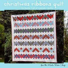 finished Christmas Ribbons - Moda Bake Shop