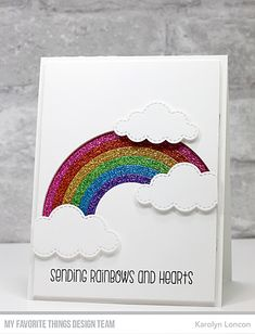 Paper Therapy: My Favorite Things - Wednesday Sketch Rainbow Card, Rainbow Butterfly, Umbrella Cards, Glitter Cards, Beautiful Handmade Cards, Get Well Cards, Scrapbook Cards, Scrapbooking, Paper Cards