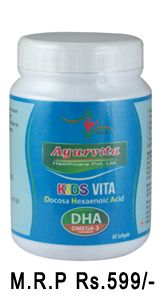 RuKids vita offers for the first time, DHA DecosaHexaenoic Acid, the Omega-3 PUFA. DHA is an essential fatty acid that body requires to live but cannot synthesis and hence must be supplemented through diet. WHO recommends that all infant formulas shall be enriched with DHA for the development and functioning of Brain, Visual Sharpness primarily.