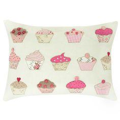 Laura Ashley Cupcakes Applique Cushion