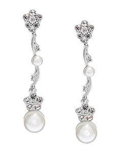 Pearl Drop Earrings $50.00 by viola