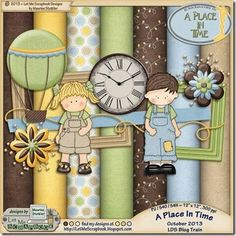 Scrapbooking Blog Train - October 2013, LDS, A Place In Time.  Lots of great digital scrapbooking freebies!