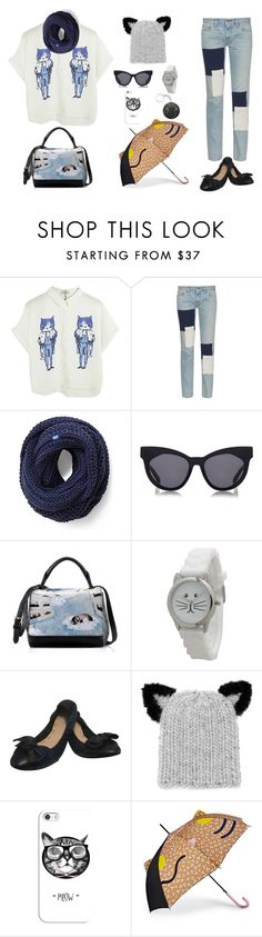 """I'm a dog person, but I love this shirt..."" by juliehalloran ❤ liked on Polyvore featuring Chicnova Fashion, Simon Miller, Keds, Karen Walker, Olivia Pratt, Miu Miu, Eugenia Kim, Casetify and FOSSIL"
