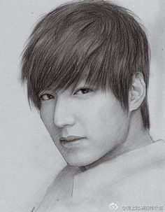 Art Drawings Sketches Simple, Pencil Drawings, Random Drawings, Korean Celebrities, Korean Actors, Optical Illusion Tattoo, Lee Min Ho Photos, Jungkook Fanart, Kim Woo Bin
