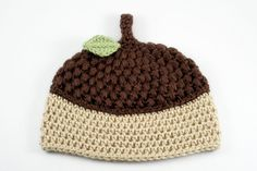Crochet Acorn Baby Hat // 3 to 6 Months by lauraanncrochet ... Buy now ——> http://etsy.me/1zfdPuh