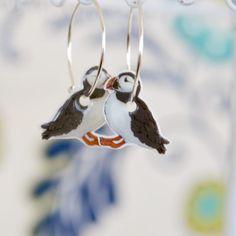 Atlantische Puffin Ohrringe niedlichen Vogel von PaperPatternSilk
