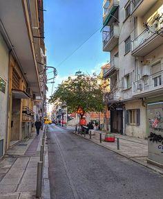 A random street. City Photography, Mobile Photography, Greece Thessaloniki, Greece Travel, Sunny Days, Street View, Random, Happy, Photos