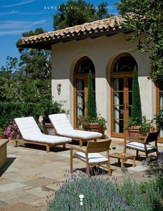 If only I had a patio outside the Spanish style house I don't have...
