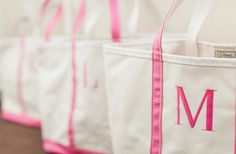 Give each of your bridesmaids an LLbean bag with their initials.  Fill the bag with flipflops, hair spray advil,coozies,fun    things for the wedding!
