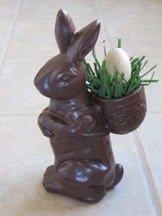 faux chocolate bunny