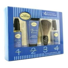 Starter Kit - Lavender: Pre Shave Oil + Shaving Cream + Brush + After Shave Balm - 4pcs