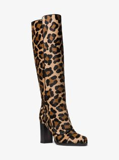 Style # DESIGN Leopard-print calf hair lends exotic appeal to our Finn boots. Set on a blocked heel with a rounded toe, this Italian-crafted pair will look chic styled with both fluid and tailored dresses. New Balance, Motif Leopard, Leopard Prints, Cheetah, Designer Shoes On Sale, Leotard Fashion, Womens Fashion Stores, Popular Shoes, Colorful Shoes