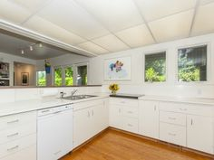 Portland Area Residential: Eat-In Kitchen With Adjoining Breakfast Room and Oak Hardwood Floors